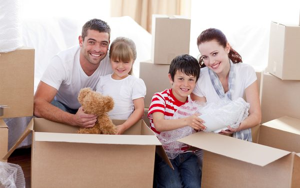 moving house with young kids