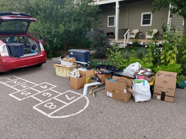 moving furniture into house